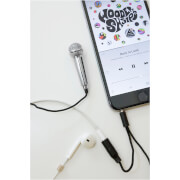 Mini Karaoke Microphone - Silver
