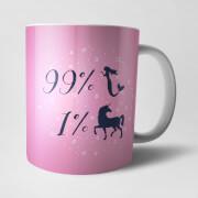99 Percent Mermaid Mug