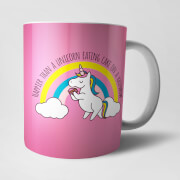 Happier Than A Unicorn Eating Cake Mug