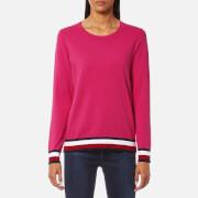 Tommy Hilfiger Women's Ivy Crew Neck Sweatshirt - Magenta