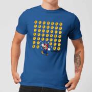 T-Shirt Homme Nintendo Super Mario Pièces -Bleu