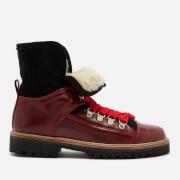 Ganni Women's Edna Leather Boots - Decadent Chocolate