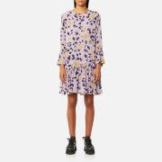 Ganni Women's Carlton Georgette Dress - Pastel Lilac