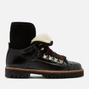 Ganni Women's Edna Leather Boots - Black