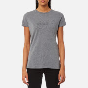 Love Moschino Women's Love Embossed T-Shirt - Dark Grey
