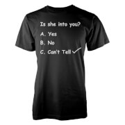 Image of Casually Explained Is She Into You? Black T-Shirt - L - Black