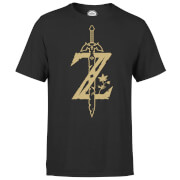 Nintendo The Legend Of Zelda Master Sword Men's Black T-Shirt