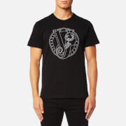Versace Jeans Men's Large Chest Logo T-Shirt - Nero