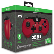Licensed X91 90's Style Controller XBOX 1 & PC Controller - Red