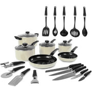 Morphy Richards 970052 Equip 6 Piece Pan Set with 14 Piece Tool Set - Cream