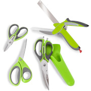 Tower T80445 Tower Health Set of 4 Scissors - Green Graphite