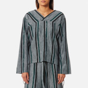 House of Sunny Women's Essential V Neck Jumper - Striped