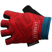 Santini La Vuelta 2017 Stage 1-2-3 Nimes Race Gloves - Blue/Red