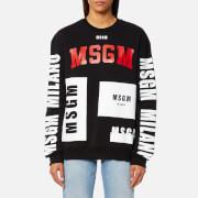MSGM Women's Multi Logo Sweatshirt - Black - XS - Black