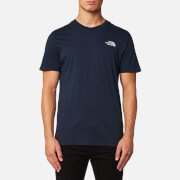 The North Face Men's Short Sleeve Simple Dome T-Shirt - Urban Navy/High Rise Grey
