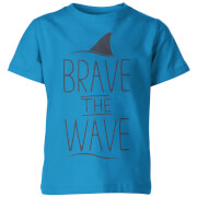 Brave the Wave Kid's Blue T-Shirt