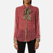 Maison Scotch Women's Mix Print Button Shirt - Combo A