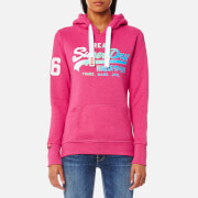 Superdry Women's Vintage Logo Duo Fade Hooded Sweatshirt - Paradise Pink Marl