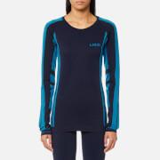 LNDR Women's Colours Long Sleeve Seamless Tech T-Shirt - Navy Marl - M/L - Blue