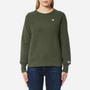 Champion Women's Crew Neck Sweatshirt - Green