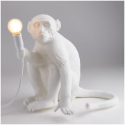 Seletti Sitting Monkey Lamp - White