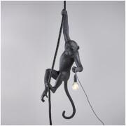 Seletti Ceiling Monkey Lamp - Black