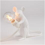Seletti Sitting Mouse Lamp - White