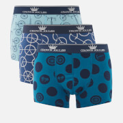 Joules Men's 3 Pack Cycle Printed Boxer Shorts - Multi