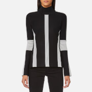 Karl Lagerfeld Women's Ottoman Sweatshirt - Black/White