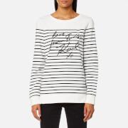 Karl Lagerfeld Women's Love From Paris Sequin Sweatshirt - White/Black