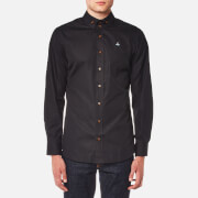 Vivienne Westwood MAN Men's Firm Poplin Two Button Krall Shirt - Black