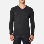 Barbour Men's Essential Lambswool V Neck Knitted Jumper - Charcoal