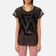 Reebok Women's Mesh Short Sleeved T-Shirt - Black