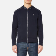 Polo Ralph Lauren Men's Nylon/Fleece Full Zip Jacket - Aviator Navy - L - Navy