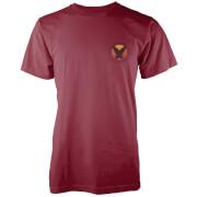 Native Shore Männer T-Shirt Surf Vibe Pocket Print - Burgund