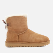 UGG Women's Mini Bailey Bow II Sheepskin Boots - Chestnut
