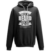 Does My Beard Look Big In This Men's Black Hoodie