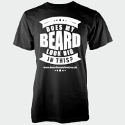 Does My Beard Look Big In This Men's Black T-Shirt