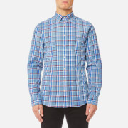 GANT Men's Broadcloth Check Shirt - Indigo