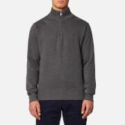 GANT Men's Sacker Rib Half Zip Sweatshirt - Antracit Melange