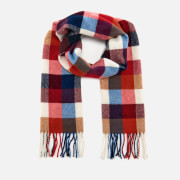 GANT Men's Multicheck Scarf - Bright Red
