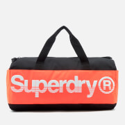 Superdry Sport Montana Barrel Bag - Black/Orange/White