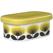 Orla Kiely 70s Oval Flower Butter Dish - Yellow