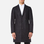 PS Paul Smith Men's Single Breasted Overcoat - Black - S - Black