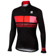 Sportful Stripe Thermal Jacket - Black/Red