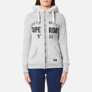 Superdry Women's Applique Zip Hoody - Grey Marl Nep