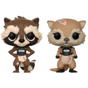Pack 2 Figuras Pop! Vinyl Rocket Raccoon y Lila - Guardianes de la Galaxia