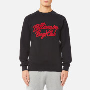 Billionaire Boys Club Men's Chenille Script Crew Neck Sweatshirt - Black