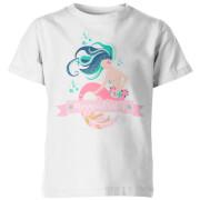 My Little Rascal Mermaid Vibes Kid's White T-Shirt