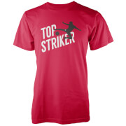top striker men's red t-shirt - m - red
